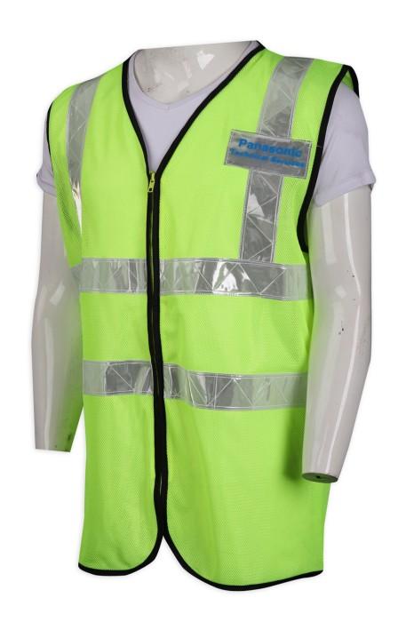 D277 設計螢光綠反光安全背心 100%滌 技術 電器行業 呂牌 安全背心製造商