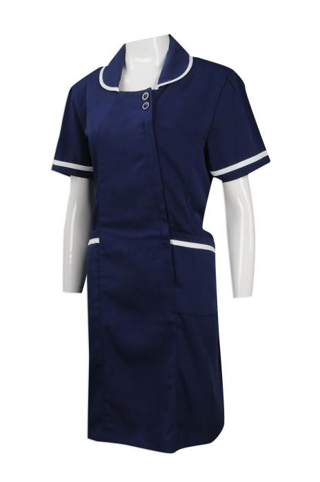 UN165 來樣訂做公司制服款式 製作美容院員工制服 訂購公司制服批發商