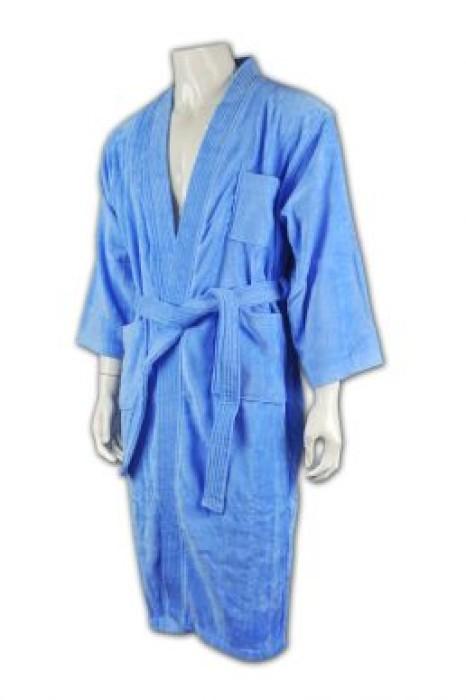 UN153 訂製男士浴袍 設計獨特款式  來版訂購浴袍  浴袍專門店