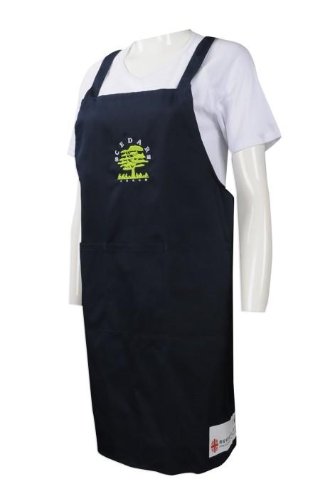 AP110 度身訂做圍裙款式 訂造繡花LOGO款圍裙電子設備 工業設備行業 設計圍裙製衣廠