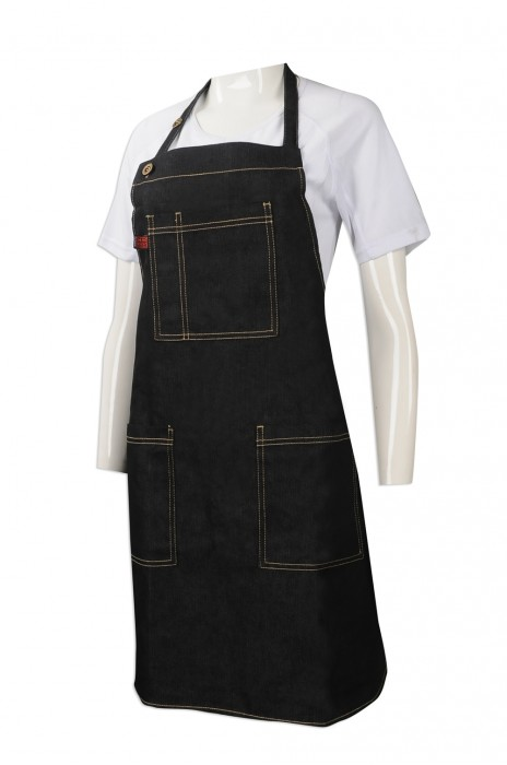 AP121 網上訂購牛仔布圍裙 筆插設計 團體訂做全身圍裙 設計全身圍裙製造商