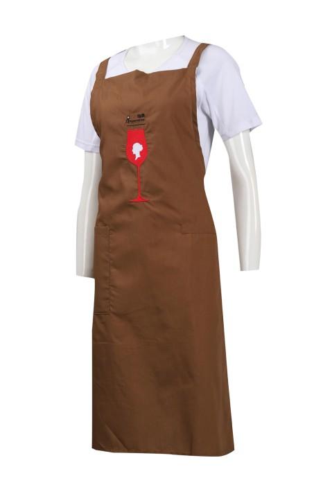 AP125 設計繡花logo圍裙 HK 圍裙供應商