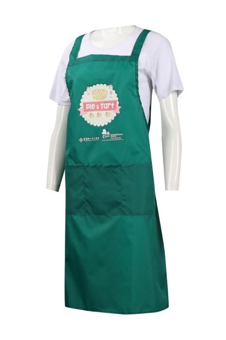 AP126 訂製印花logo全身圍裙 香港婦女中心協會 圍裙生產商
