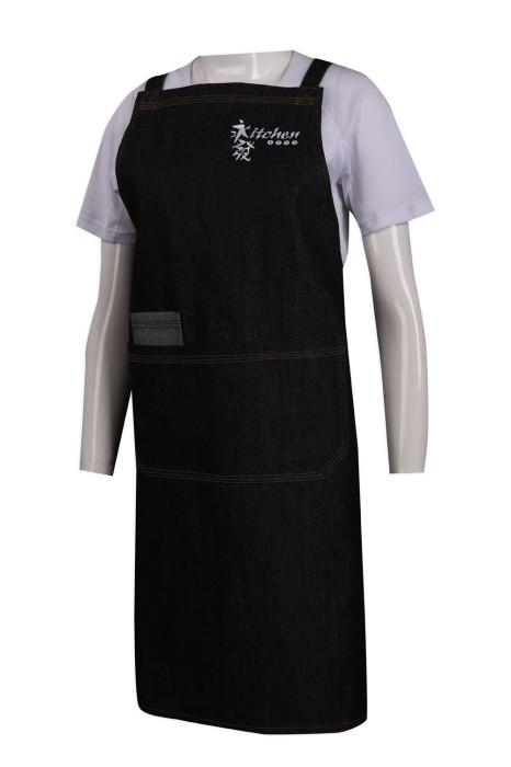 AP131 製作牛仔全身圍裙 永發廚房 香港 圍裙生產商