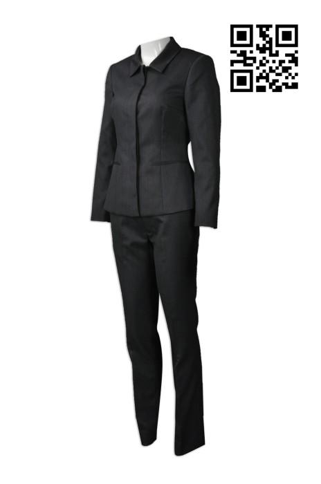 BWS074 訂購長江實業地產西裝  活動西裝 設計修身女款西裝  網上下單女款西裝 西裝製造商
