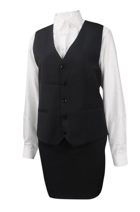 BWS086 度身訂做背心西裝套裝 團體訂製背心西裝套裝 女士西裝製作中心