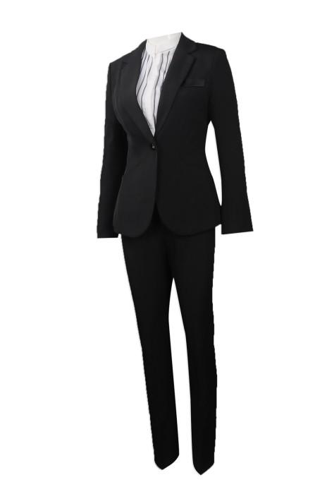 BWS088 團體訂做女裝修身西裝 樓面西裝 大量訂購女裝西裝套裝 西裝製造商