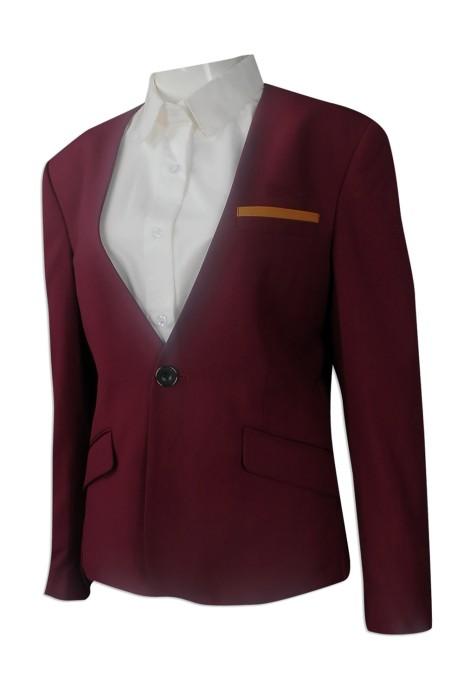 BWS093 度身訂做女裝西裝外套 設計燕尾服款西裝外套 修腰 長身 女裝燕尾服 接待制服 樓面西裝 訂造女西裝專營店