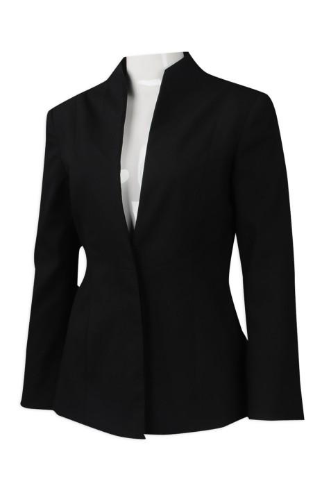 BWS096 訂做喇叭袖修身女西裝 樓面西裝 直身領