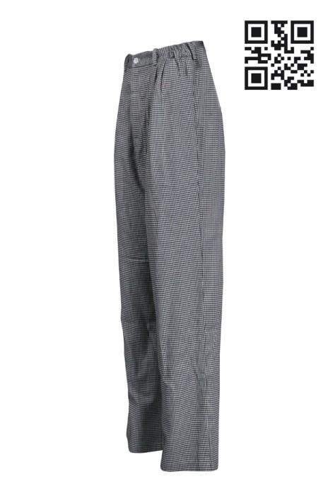 KI101 設計廚房褲長褲 員工工作褲 廚師餐飲制服製造商