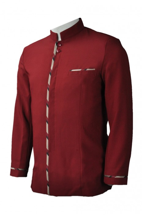 HL006 個人設計酒店制服  來樣訂造大堂制服  大量訂造酒店制服  酒店制服hk中心
