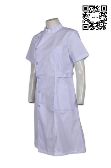 NU016  診所護士服來款訂製 護士裙款團體服 牙科護士 護工制服 制服香港公司