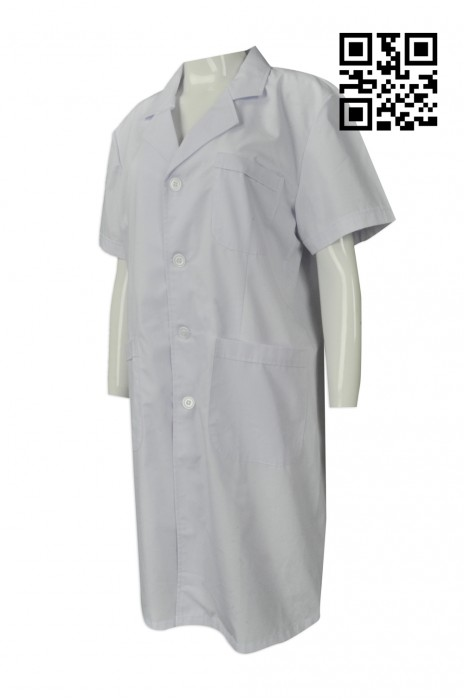 NU041 訂購醫生袍   訂製短袖實驗袍 獸醫制服 來樣訂造醫生制服  新加坡 Polytechnic 醫生袍專門店