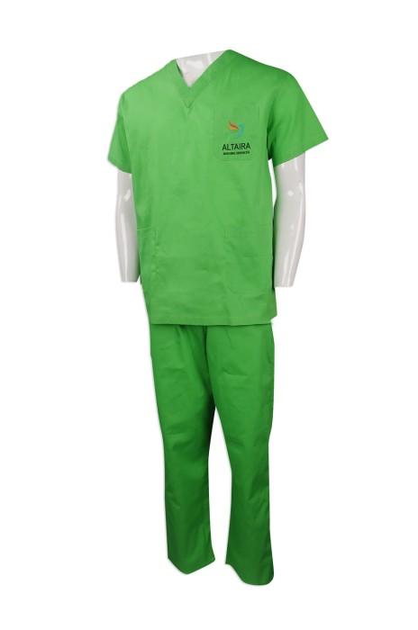 NU048 網上下單護士制服 來樣訂做護士制服款式 澳洲 男裝診所醫護制服 設計套裝護士制服專營店
