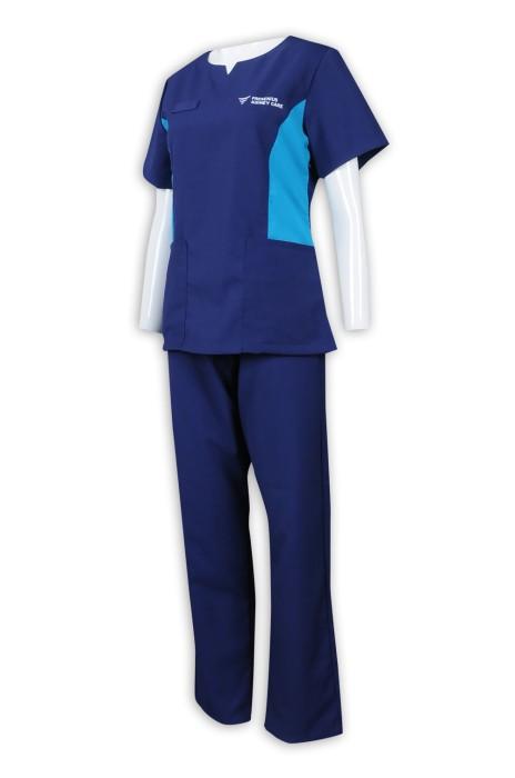 NU054 設計女裝診所制服套裝 女主管 護理人員制服 65%滌 35%棉 診所制服製造商