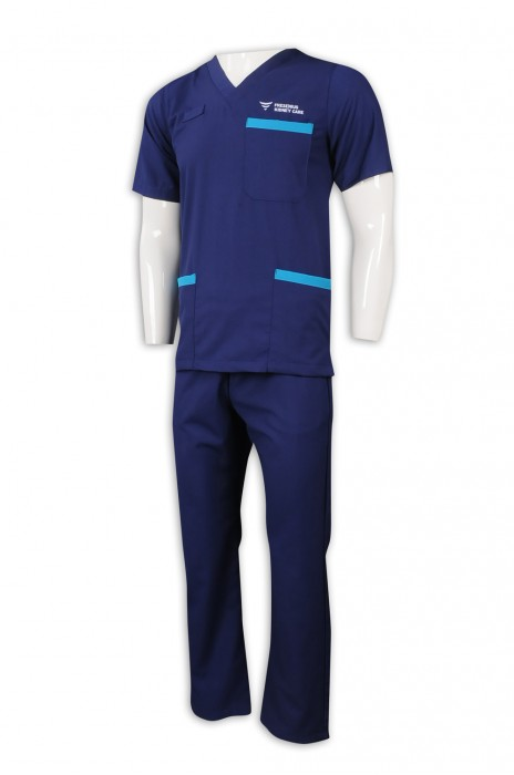 NU056 訂造診所制服套裝 男主管 醫護 護理人員制服 65%滌 35%棉 診所制服製衣廠