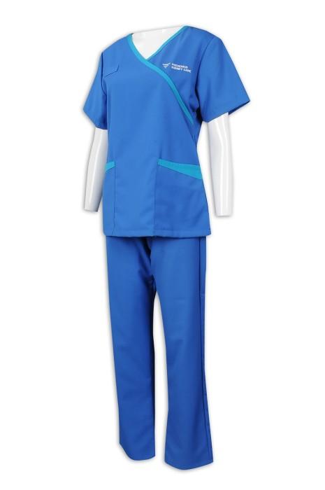 NU053 訂做女護士制服套裝 醫院 診所工作人員制服 65%滌 35%棉 診所制服供應商