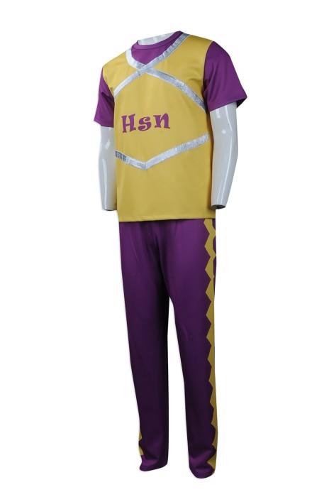CH179 度身訂做男裝啦啦隊服 製作男裝啦啦隊服套裝亮銀 印花 設計套裝啦啦隊服製造商