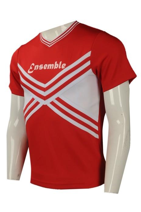 CH182 專業訂造啦啦隊服 團體訂購啦啦隊服款式 男啦啦隊衫 設計啦啦隊服批發商