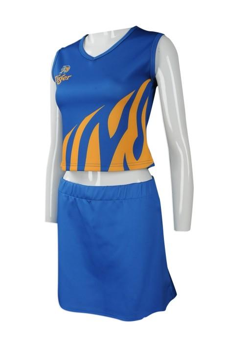 CH183 大量訂做套裝女裝啦啦隊服 專業訂造啦啦隊服款式 設計啦啦隊服供應商