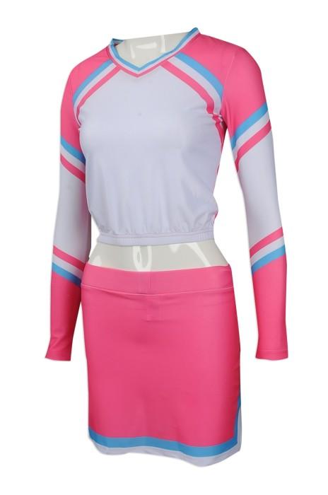 CH188 大量訂做長袖套裝啦啦隊服 團體訂購束腰啦啦隊服款式 澳洲 Robyn 訂印啦啦隊服製衣廠