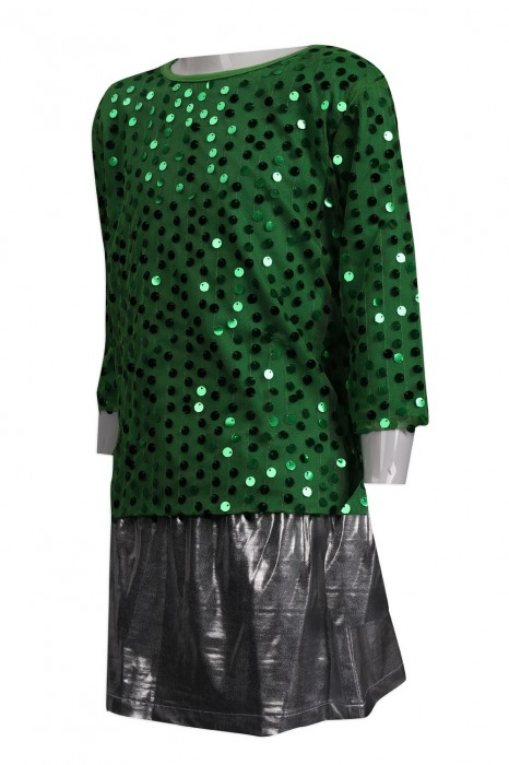 CH191 製作女裝啦啦隊套裝  BLING BLING 珠片閃光 鄭觀應公立學校 澳門 啦啦隊服製衣廠 童款