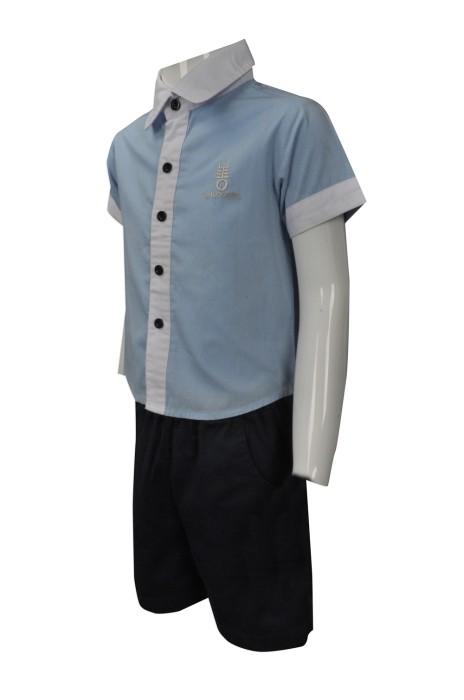 SU264 來樣訂做小童校服套裝款式 網上下單小學校服 男童夏天 幼稚園 兒童校服製作中心