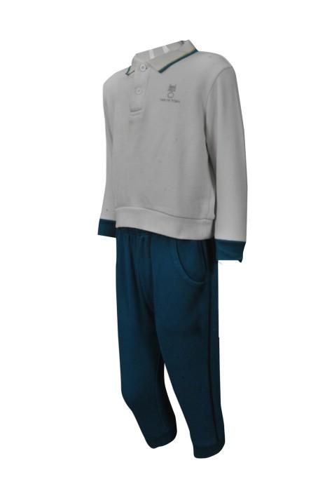 SU265 訂製兒童校服款式 設計小學校服套裝 幼稚園 運動服冬季校服製作商