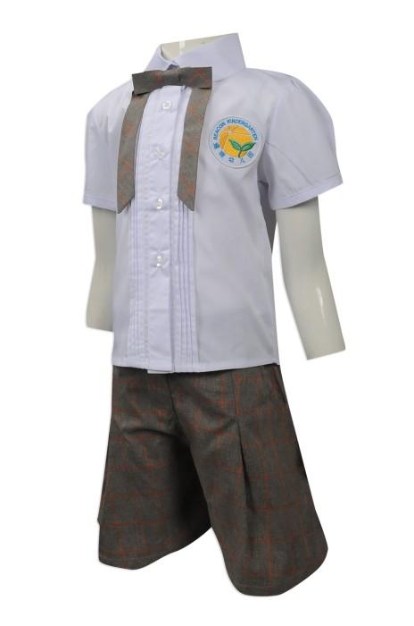 SU269 網上下單幼稚園女童校服套裝 訂造幼稚園女童校服 自訂女童校服專營店