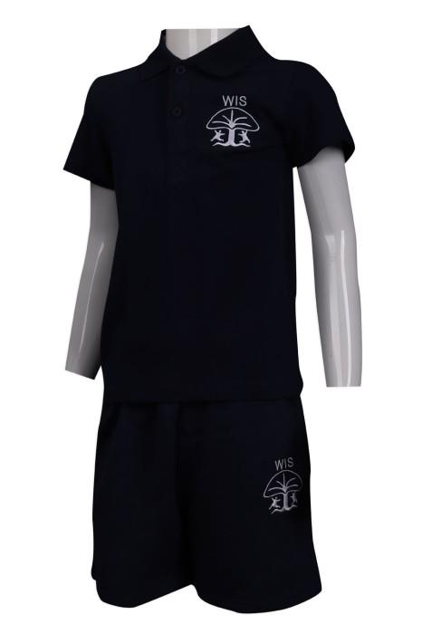 SU278 訂做兒童夏季套裝校服 繡花logo校服 日本幼兒園 校服供應商