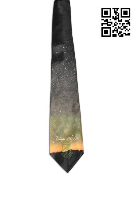 TI128  設計時尚星空領呔  供應印花領呔 熱昇華 畢業紀念 中學班會校帶 領呔製衣廠