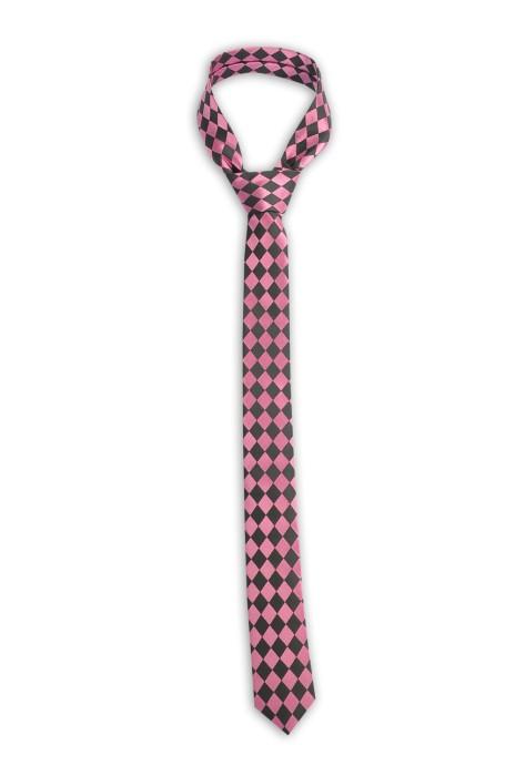 TI160 設計菱格領帶 細領帶 100%滌 領帶製造商