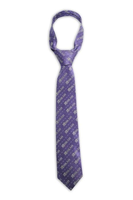 TI166 訂做淨色領帶 印花領帶  提花 LOGO OVERALL 領帶生產商