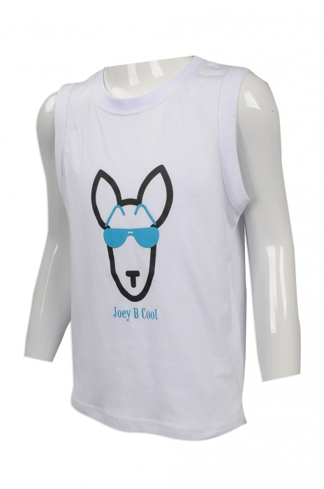 KD047 訂購卡通印花童裝背心  來樣訂造兒童背心T恤  台灣 大量訂造兒童背心 背心製衣廠