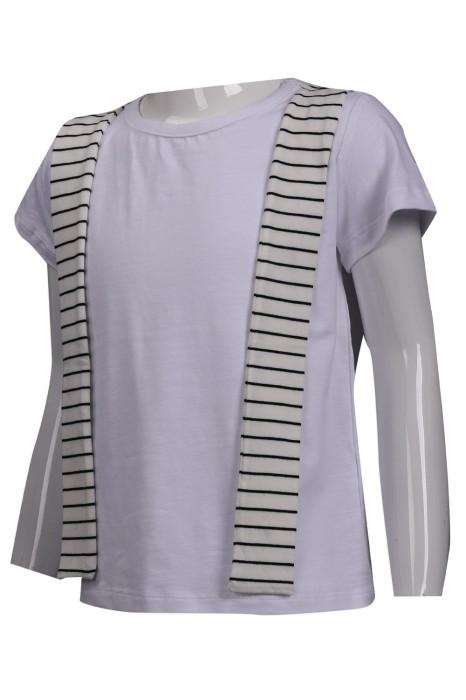 KD057 製作兒童短袖T恤 絲巾造型 童裝生產商