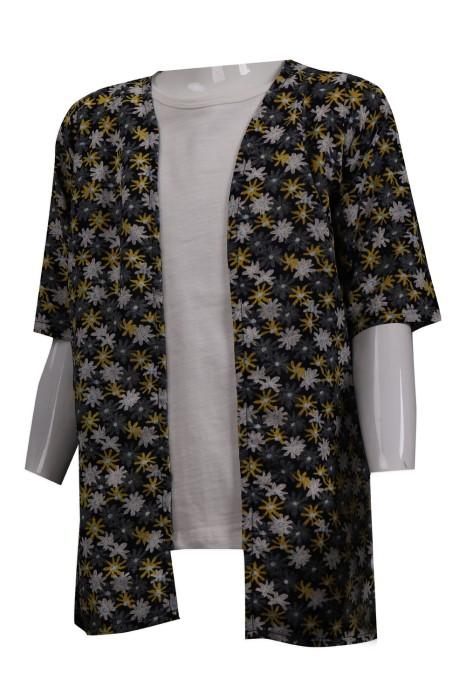 KD060 訂做兒童碎花開衫外套 童裝製衣廠