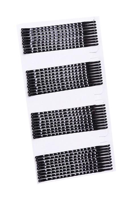 A179  訂購黑色發夾壹字夾超緊  邊夾隱形夾小號波浪發卡 盤發夾影樓發飾 發卡製造商