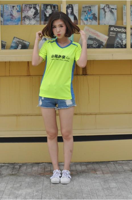 T672  訂造吸濕排汗T恤  真人試穿 模特示範 供應透氣運動T恤  乒乓球 隊衫 網上下單T恤 T恤製造商
