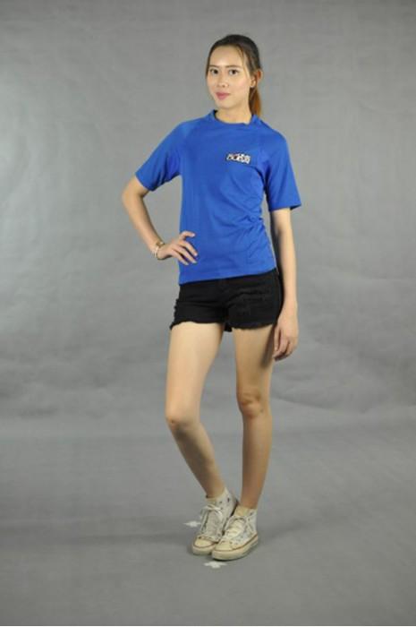 T519 量身訂做T恤  真人試穿 模特示範 設計牛角袖tee  自製t-shirt專門店