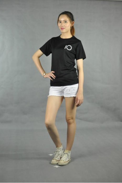 T525 打造黑色t-shirt  真人試穿 模特示範 設計團體班tee 印製logo團  t-shirt供應商HK