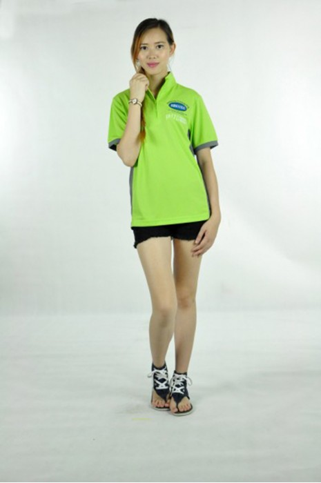 P493 健康食品行業 制服POLO  MODEL  真人模範 來樣訂做拉鏈polo衫  半胸拉鏈 訂做poloshirt中心  POLO衫供應商HK