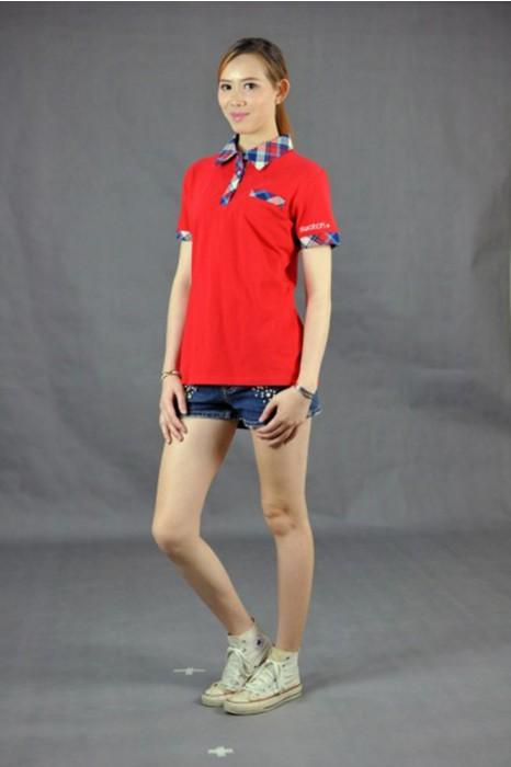 P455 訂做短袖polo衫 MODEL  真人模範 胸口貼袋 訂購團體活動polo衫 恤衫領 格子領 poloshirt專門店HK