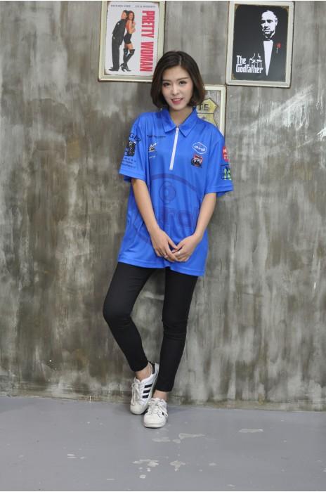 DS057 來樣訂造鏢隊衫 真人展示 模特示範   網上下單鏢隊衫 個人設計鏢隊衫 鏢隊衫供應商