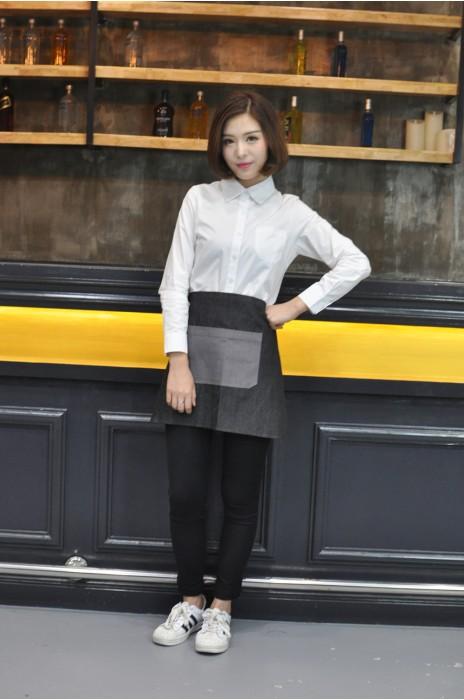 AP082 設計半身圍裙  模特試穿 製作牛仔布圍裙 真人展示 大量訂造圍裙 圍裙製衣廠