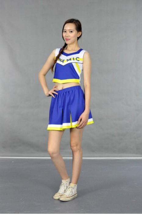 CH122 團體啦啦隊套裝 模特展示 真人示範 在線訂購 性感露腰啦啦隊套裝 百褶裙 啦啦隊套裝設計 啦啦隊套裝網站