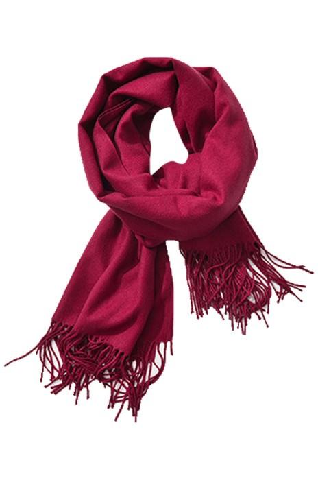 SKSL004 設計凈色仿羊絨圍巾 流蘇圍巾 圍巾製造商