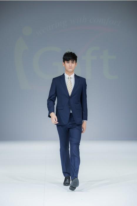 BS358  訂造職業西裝套裝  真人展示 模特試穿  網上下單男西裝  來樣訂造西裝套裝  男西裝製造商