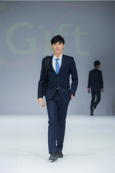 BS361 個人設計男西裝套裝  真人試穿效果  度身訂造西裝套裝  來樣訂造西裝 西裝製造商