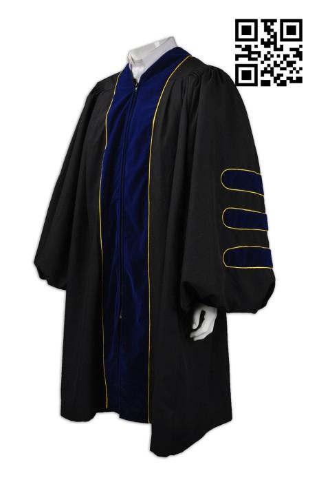 DA019 訂造度身畢業袍  訂購大學畢業袍  副學士先修袍 大學校長袍  設計畢業袍  院士袍  主席袍 畢業袍專門店