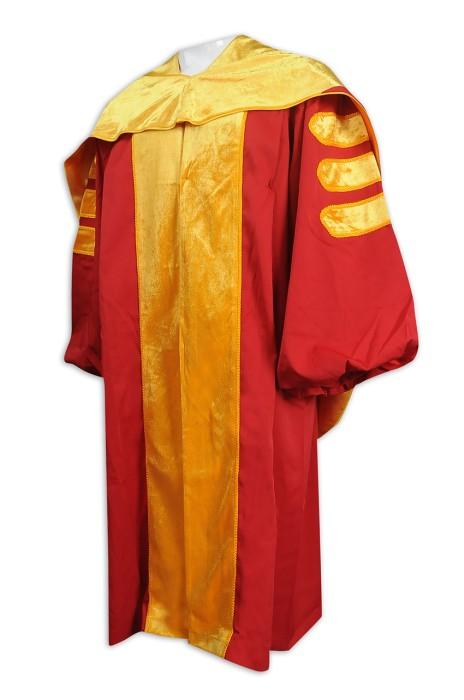 DA122 製造大學校長袍 訂購院士袍 主席袍 畢業袍製衣廠
